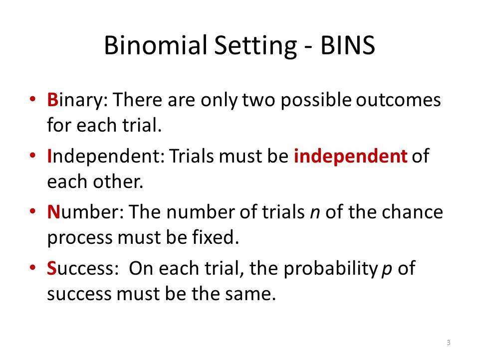 Binomial Setting - BINS