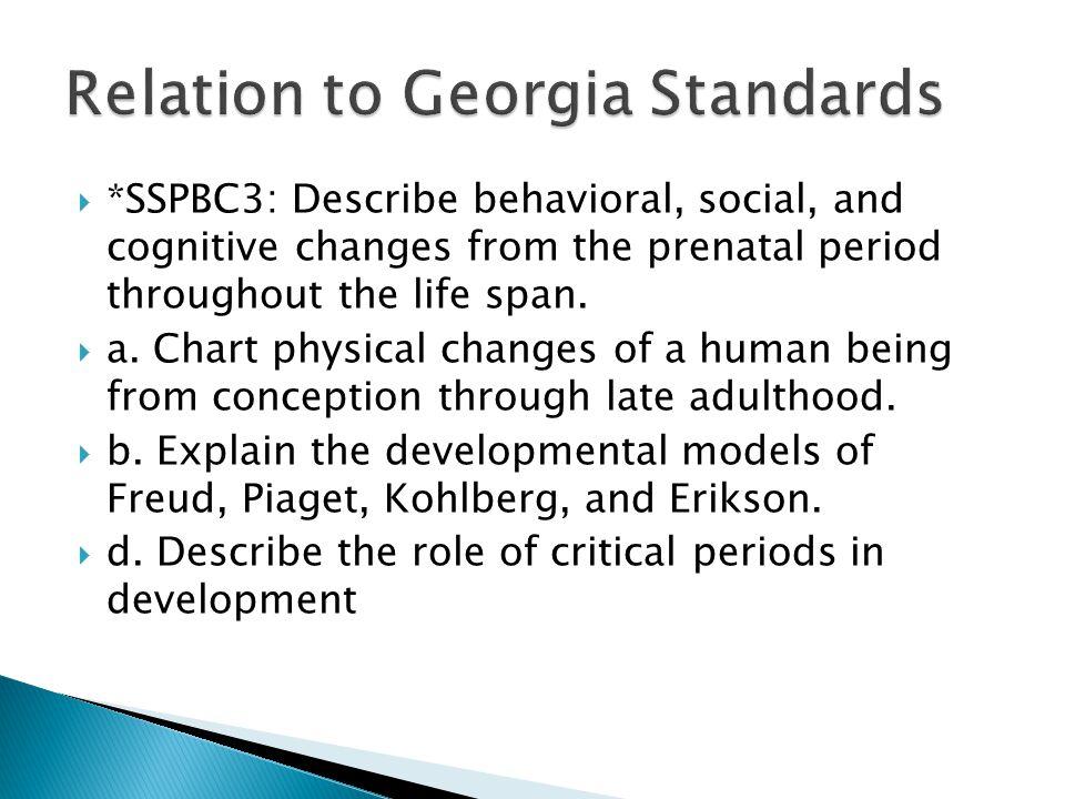 Relation to Georgia Standards