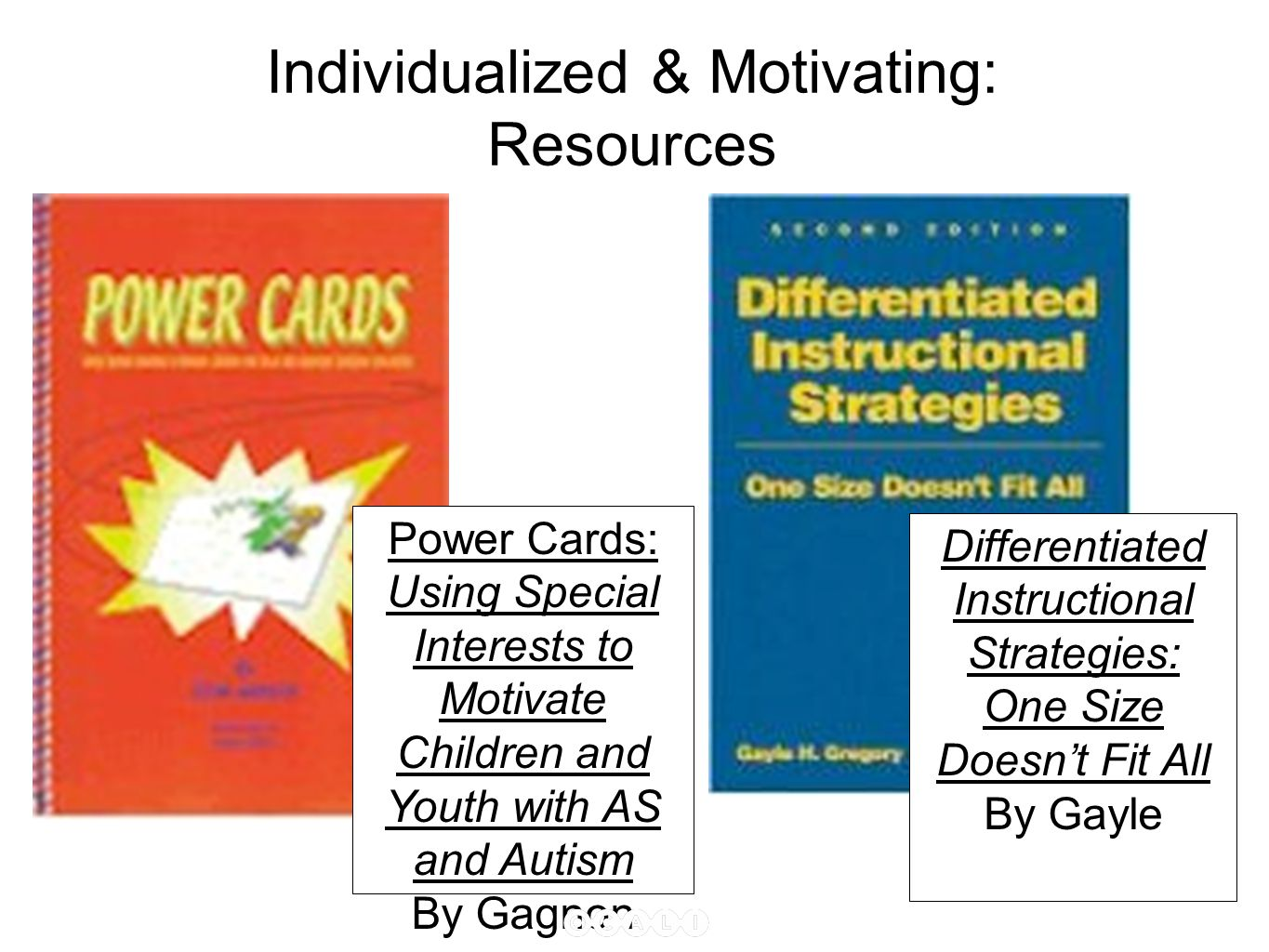 Individualized & Motivating: Resources