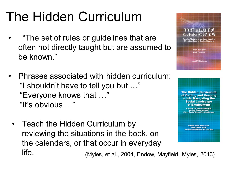 (Myles, et al., 2004, Endow, Mayfield, Myles, 2013)