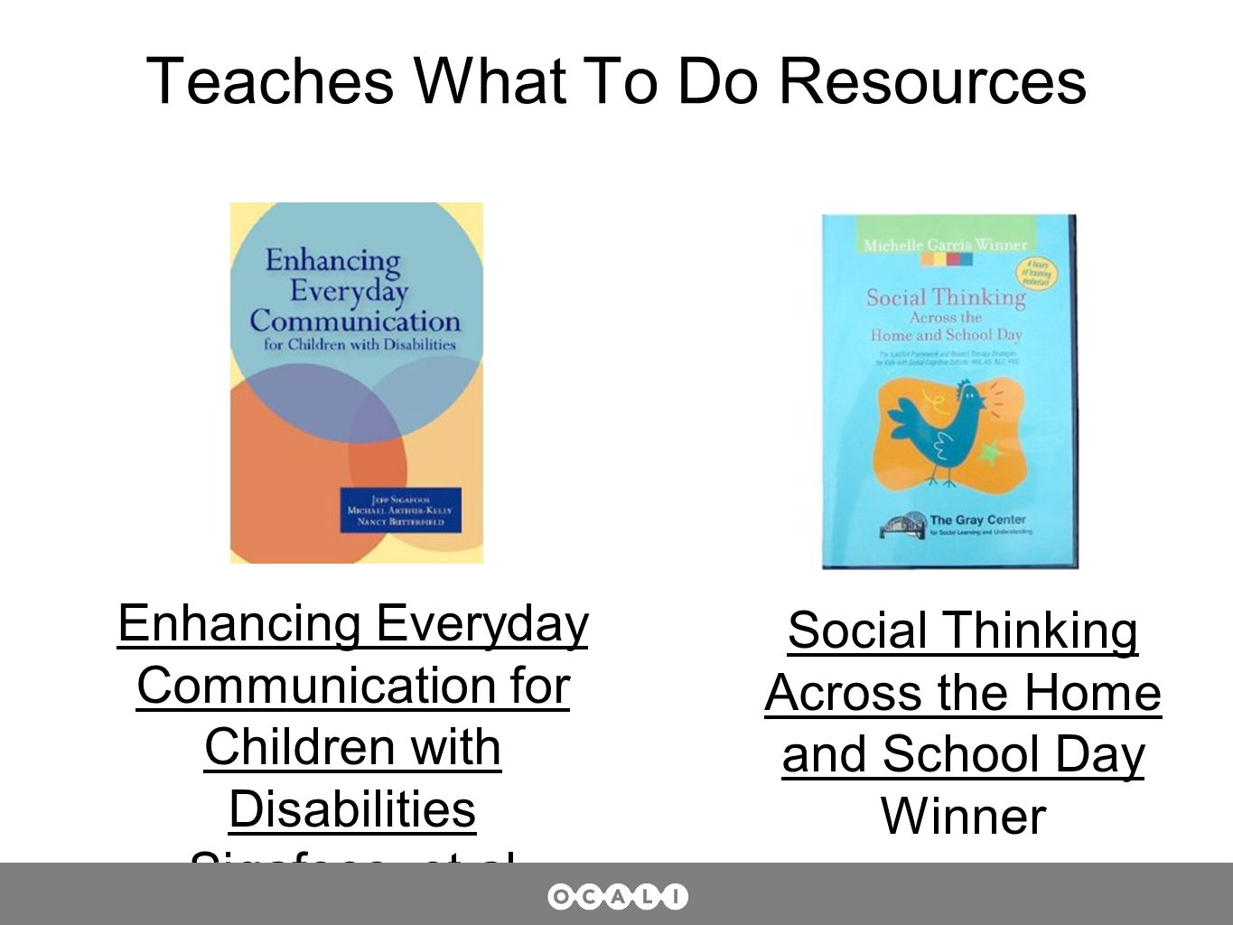 Teaches What To Do Resources