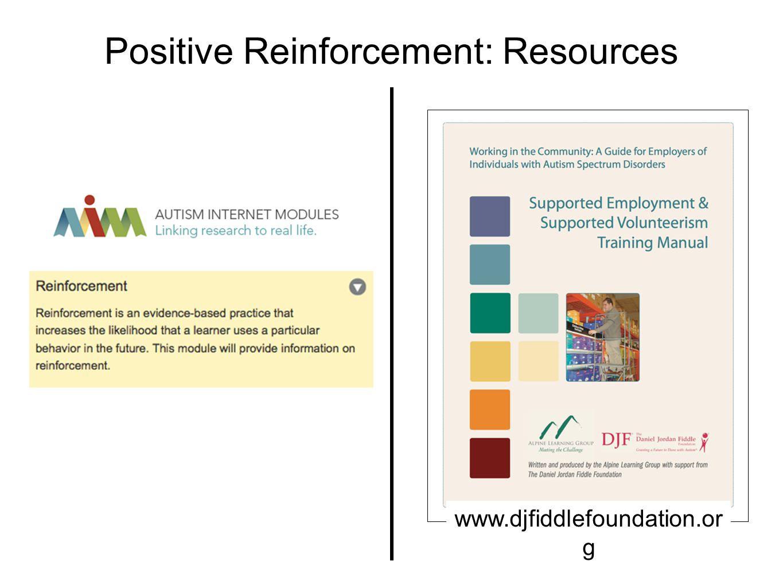 Positive Reinforcement: Resources