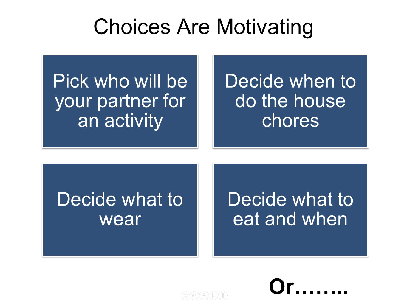 Choices Are Motivating