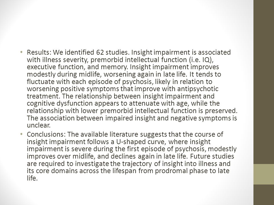 Results: We identified 62 studies