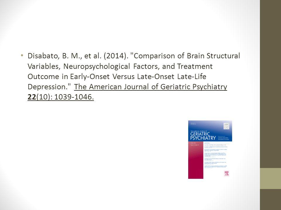 Disabato, B. M., et al. (2014).