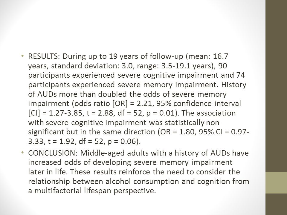 RESULTS: During up to 19 years of follow-up (mean: 16