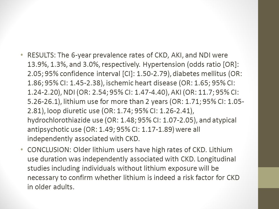 RESULTS: The 6-year prevalence rates of CKD, AKI, and NDI were 13