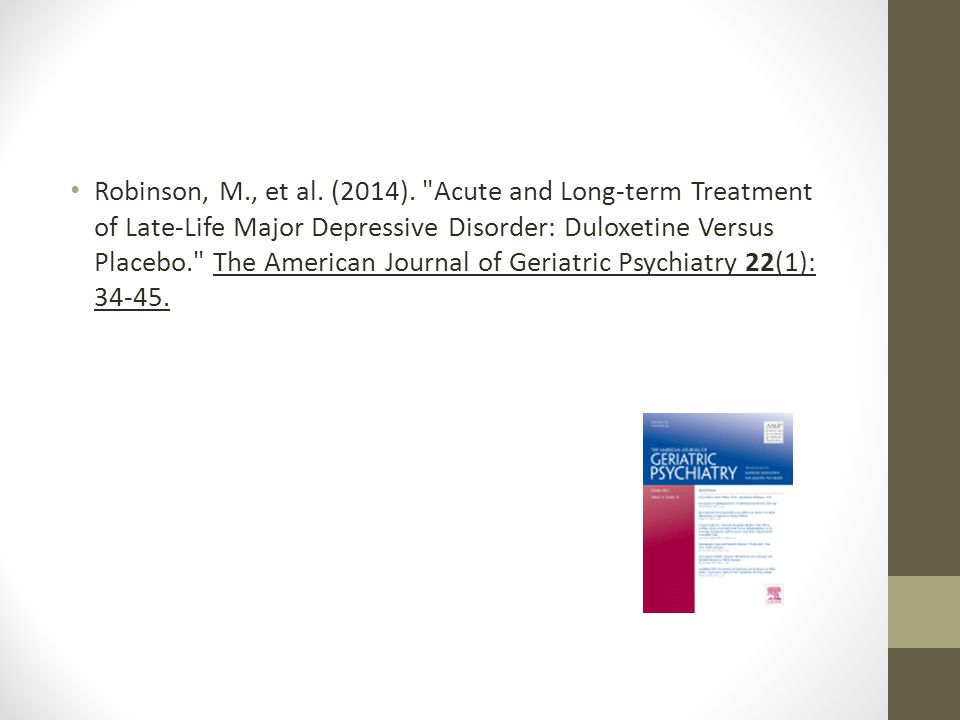 Robinson, M., et al. (2014).
