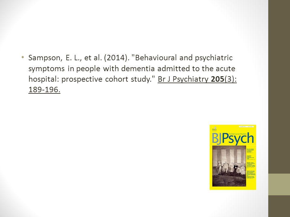 Sampson, E. L., et al. (2014).