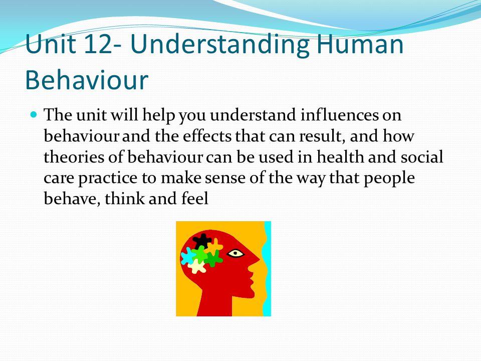 Unit 12- Understanding Human Behaviour