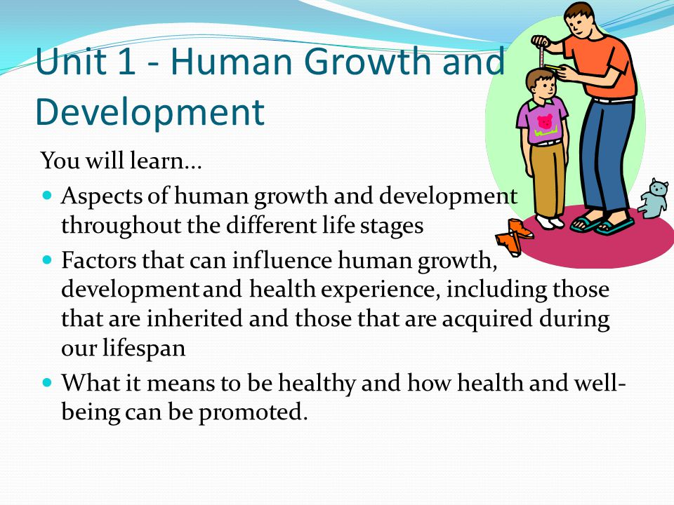 Unit 1 - Human Growth and Development