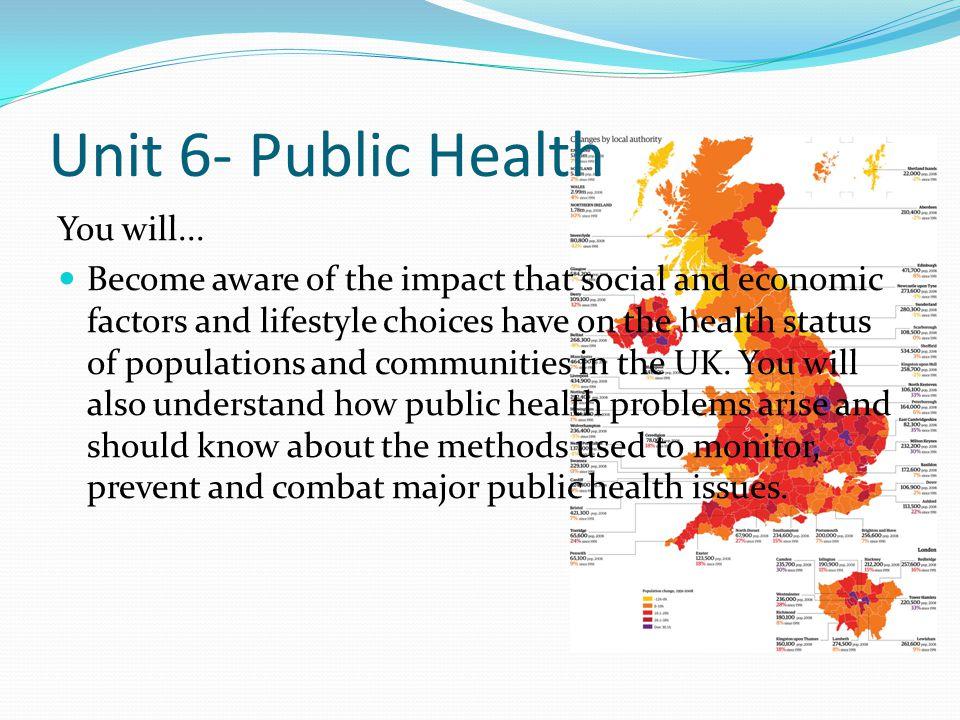 Unit 6- Public Health You will...