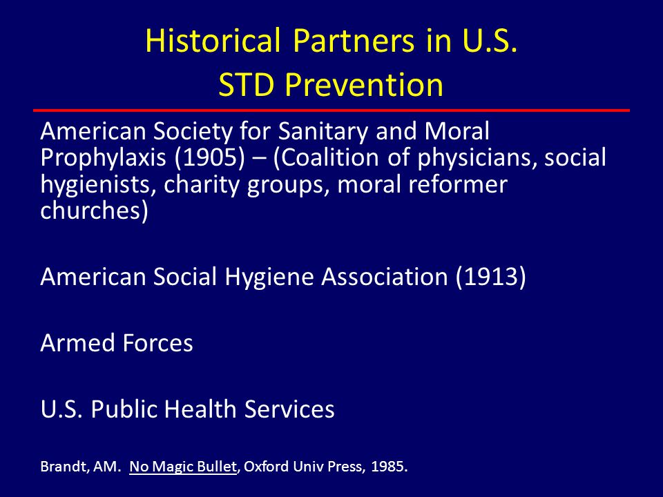 Historical Partners in U.S. STD Prevention