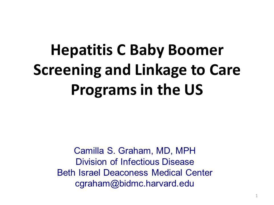 Hepatitis C Baby Boomer Screening and Linkage to Care Programs in the US