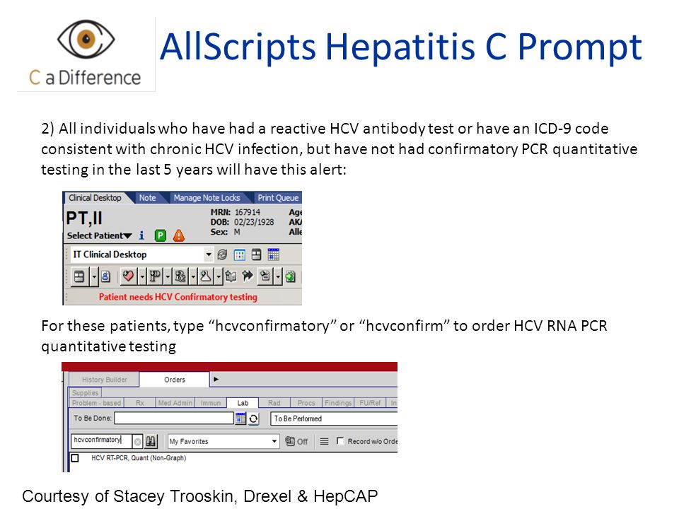 AllScripts Hepatitis C Prompt