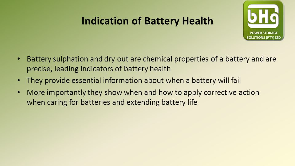 Indication of Battery Health