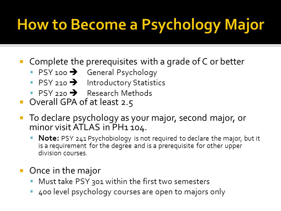 How to Become a Psychology Major