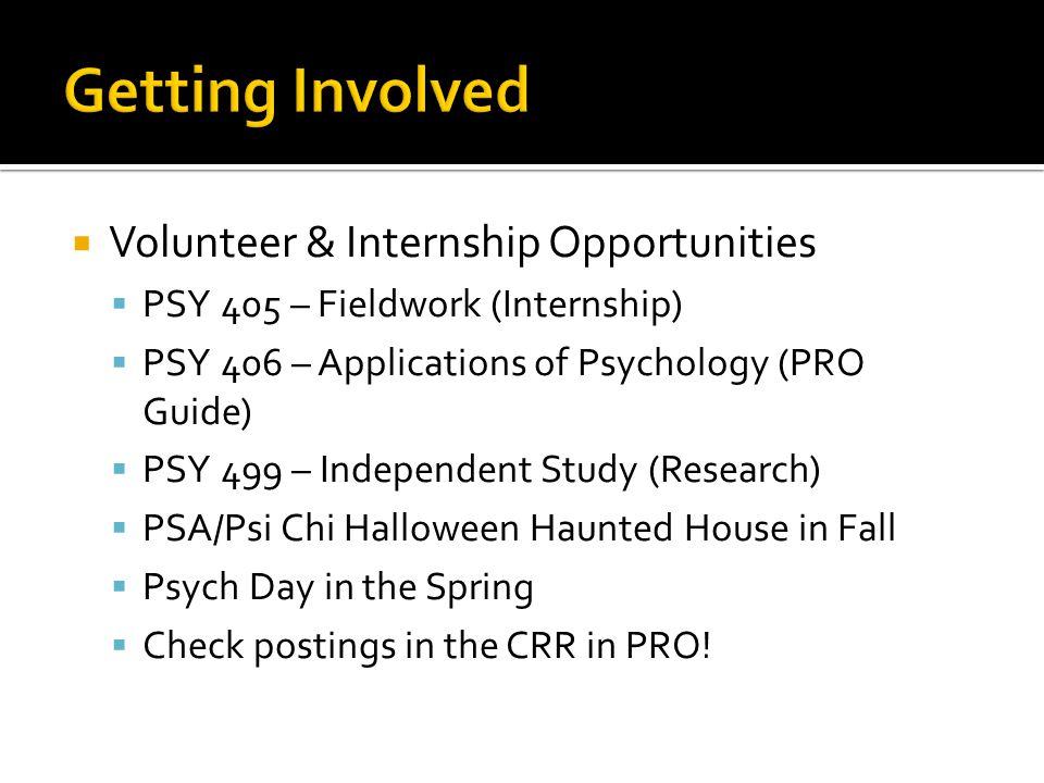 Getting Involved Volunteer & Internship Opportunities