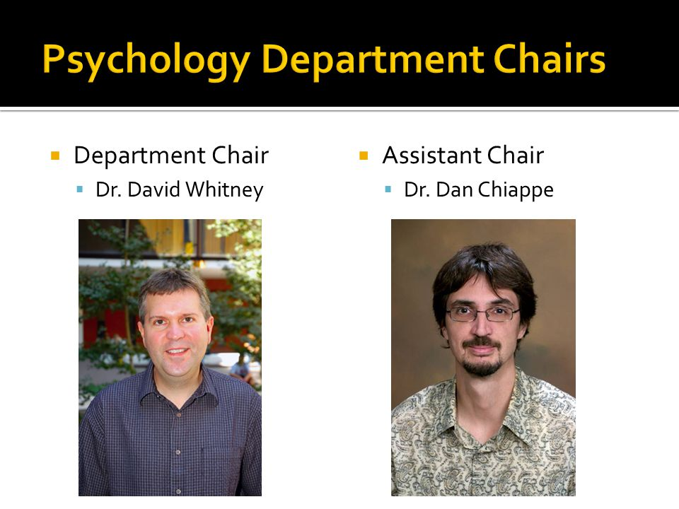 Psychology Department Chairs