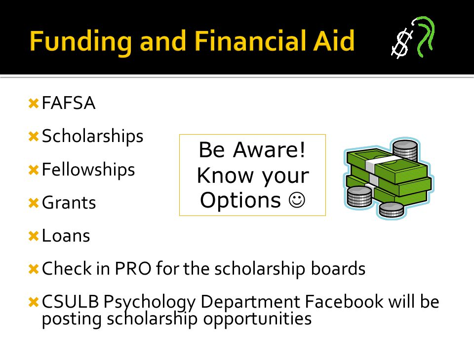 Funding and Financial Aid