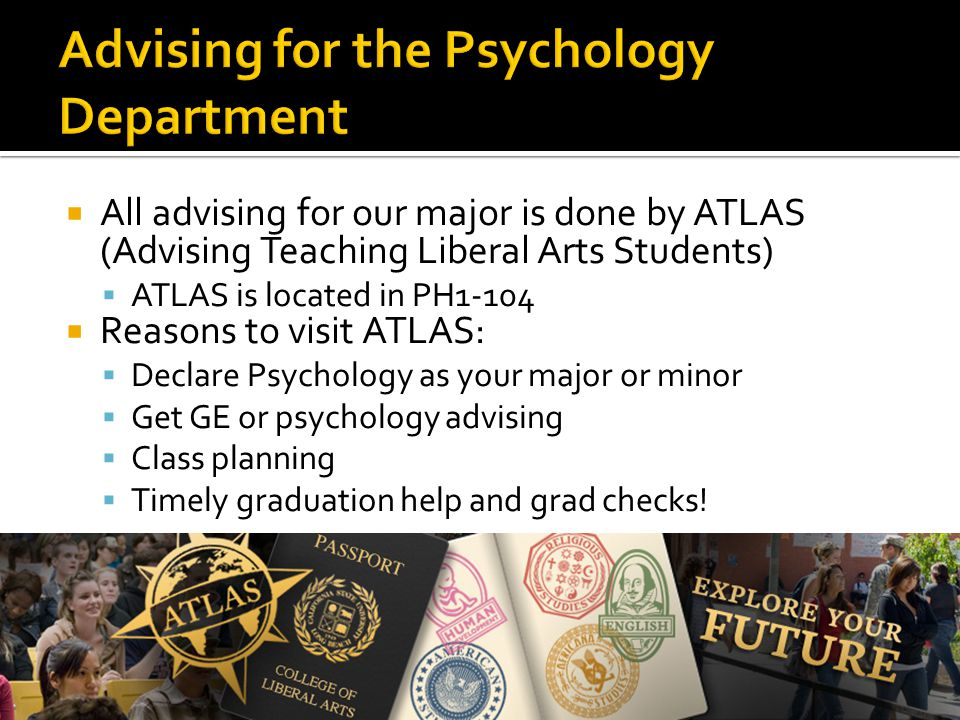 Advising for the Psychology Department