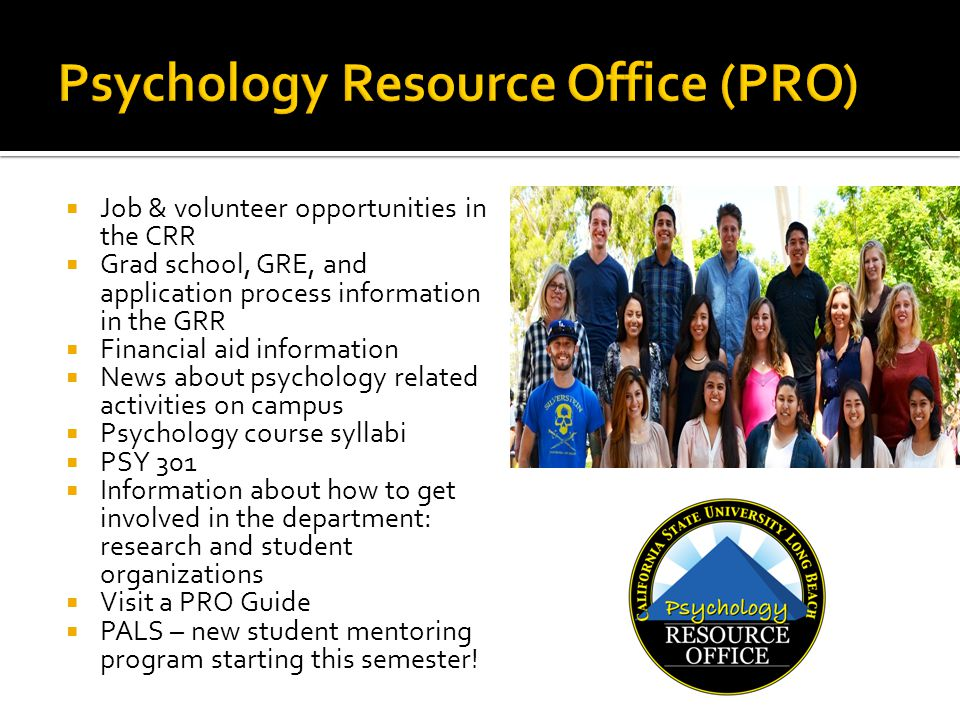 Psychology Resource Office (PRO)