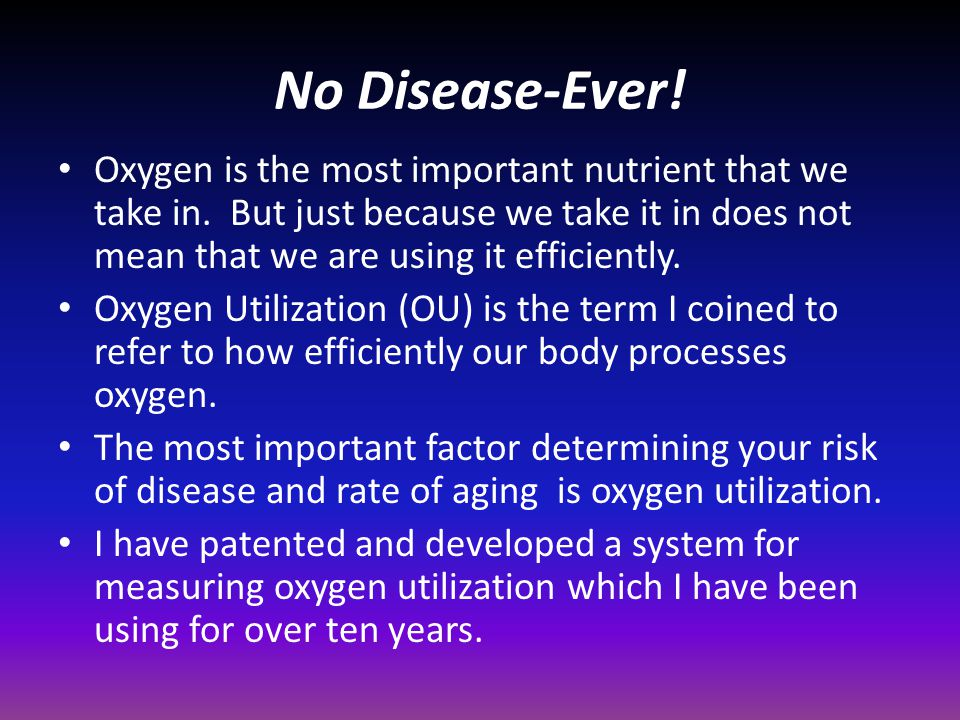No Disease-Ever!