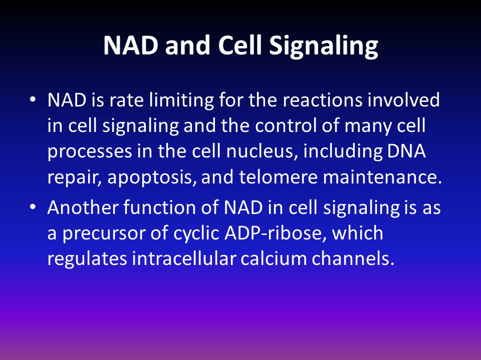 NAD and Cell Signaling