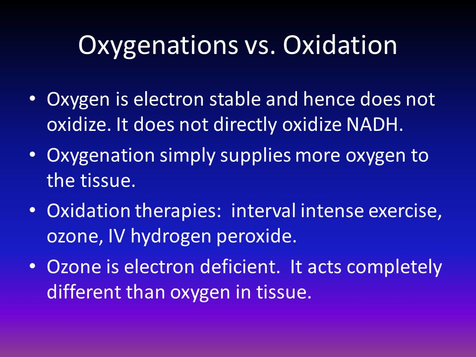 Oxygenations vs. Oxidation