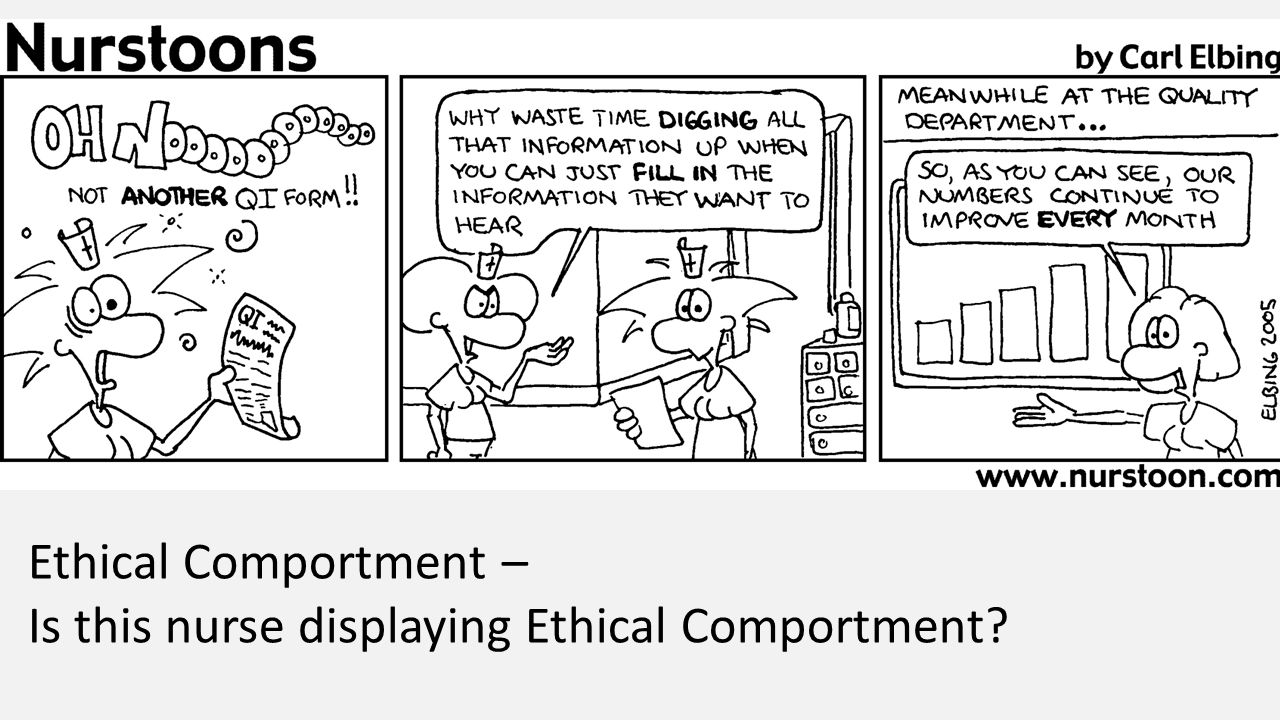 Ethical Comportment – Is this nurse displaying Ethical Comportment