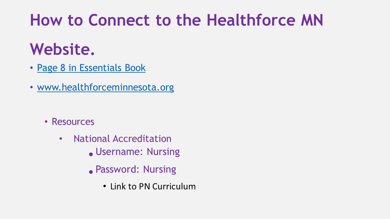 How to Connect to the Healthforce MN Website.