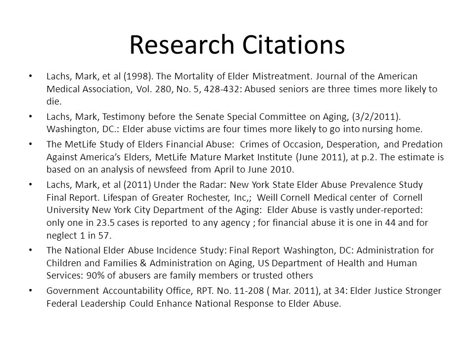 Research Citations