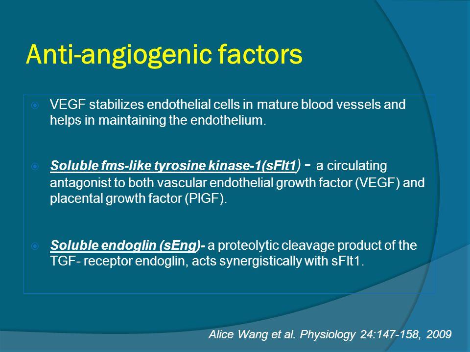 Anti-angiogenic factors