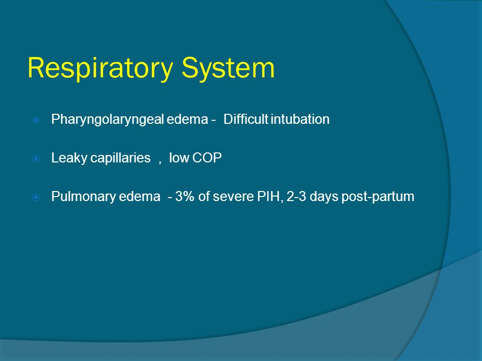 Respiratory System Pharyngolaryngeal edema - Difficult intubation