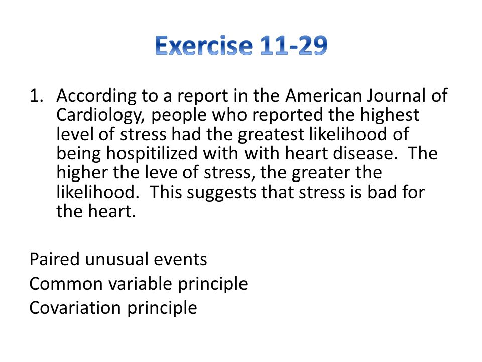 Exercise 11-29