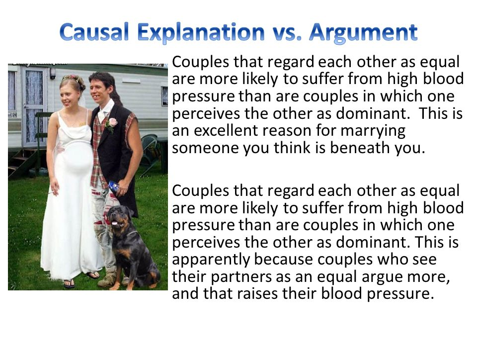 Causal Explanation vs. Argument