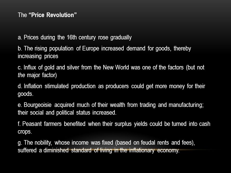 The Price Revolution a