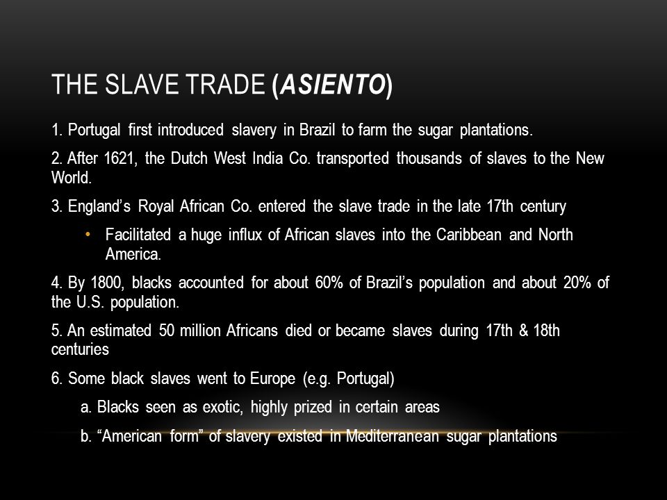 The Slave Trade (asiento)
