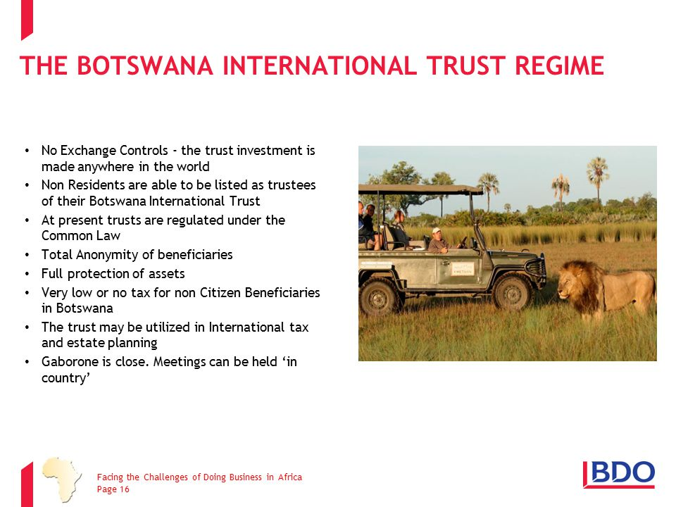 The Botswana International Trust Regime