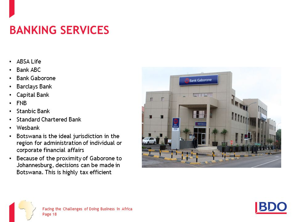 Banking Services ABSA Life Bank ABC Bank Gaborone Barclays Bank