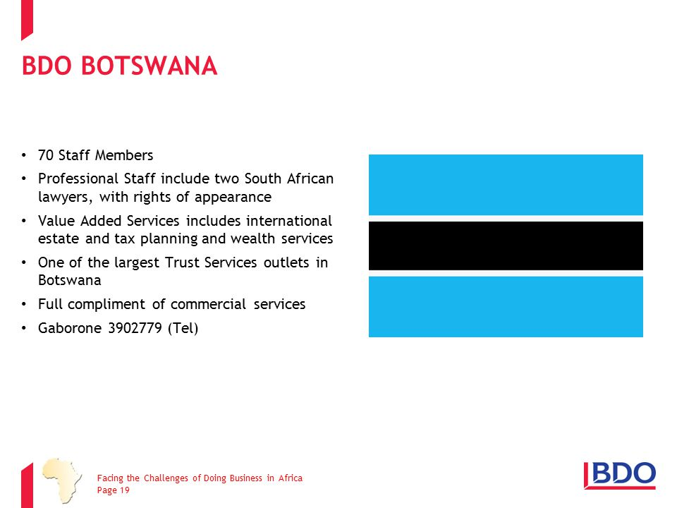 BDO Botswana 70 Staff Members