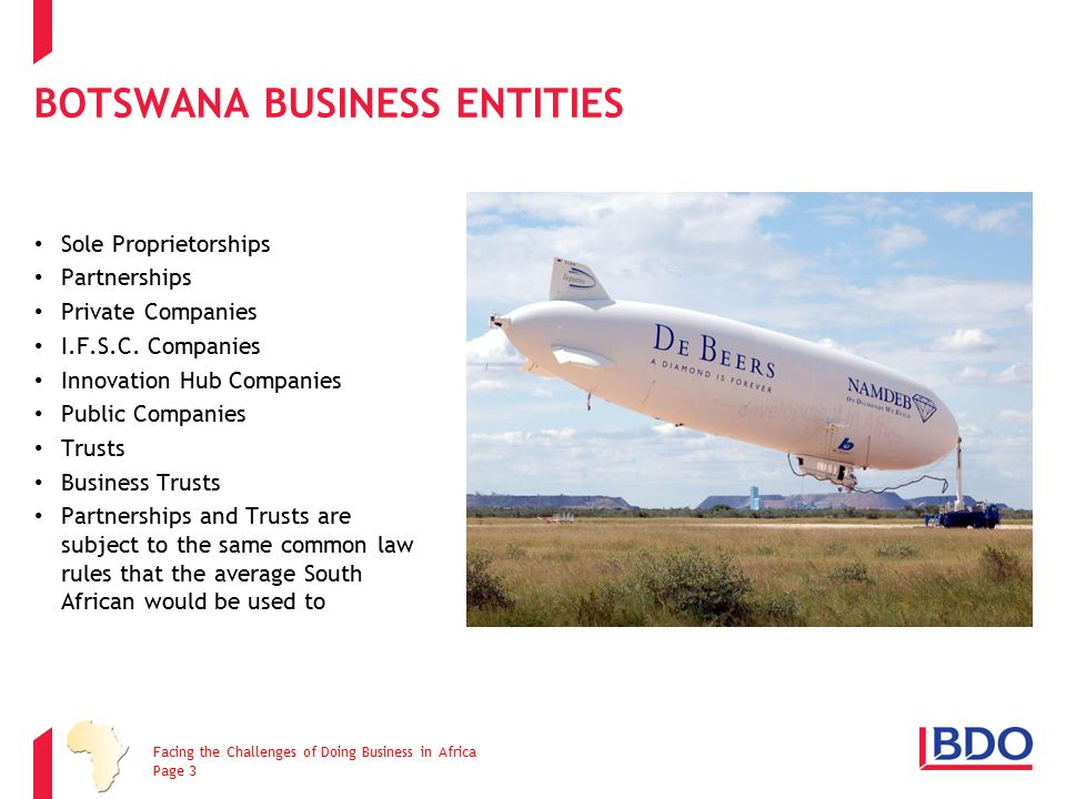 BOTSWANA BUSINESS ENTITIES