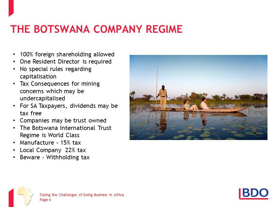 The Botswana Company Regime
