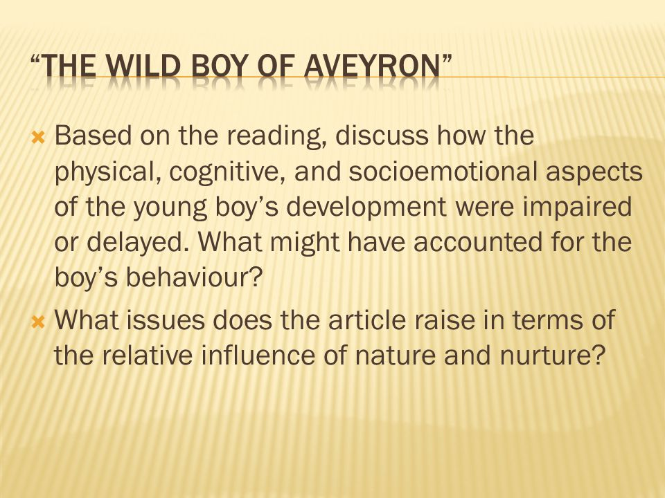 The Wild Boy of Aveyron