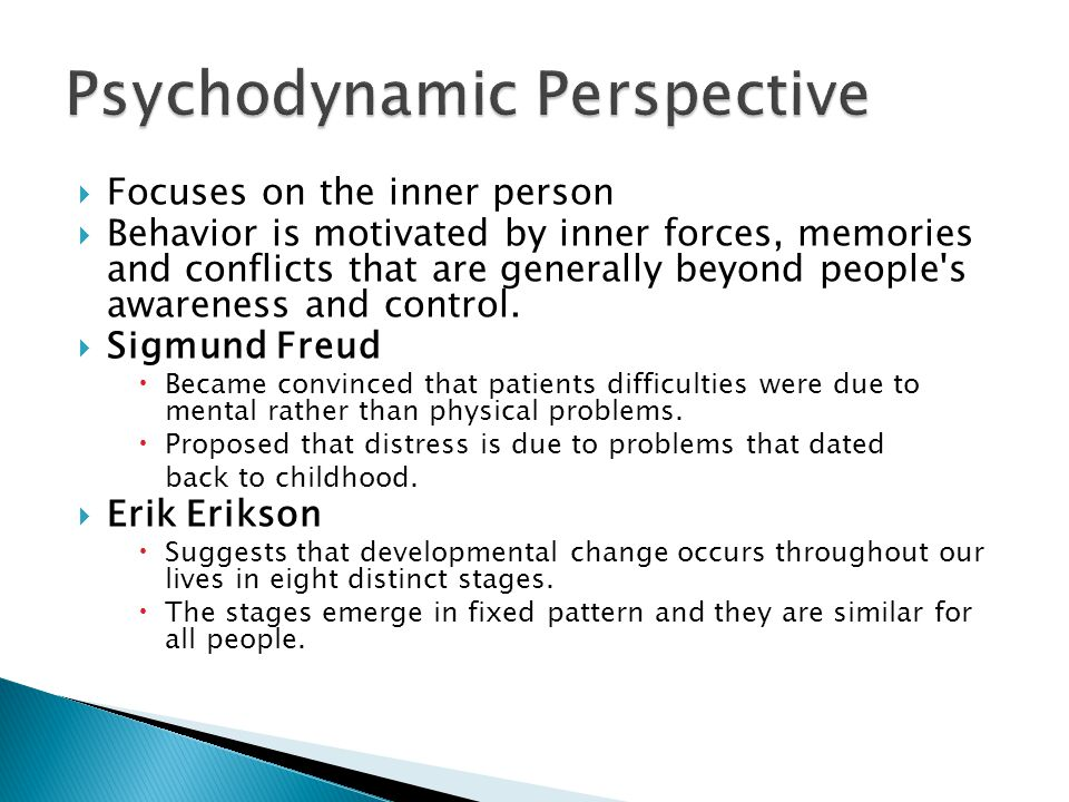 Psychodynamic Perspective