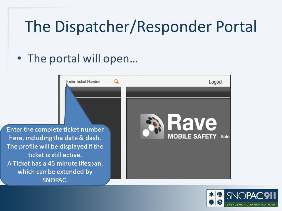 The Dispatcher/Responder Portal