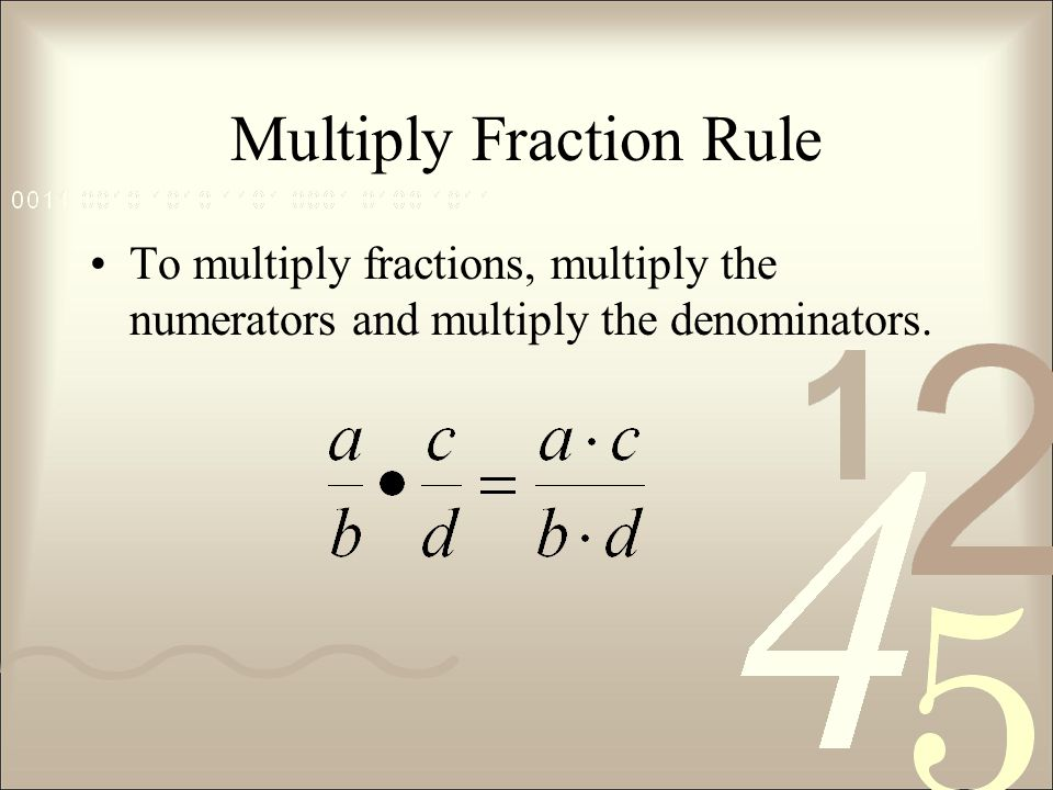 Multiply Fraction Rule