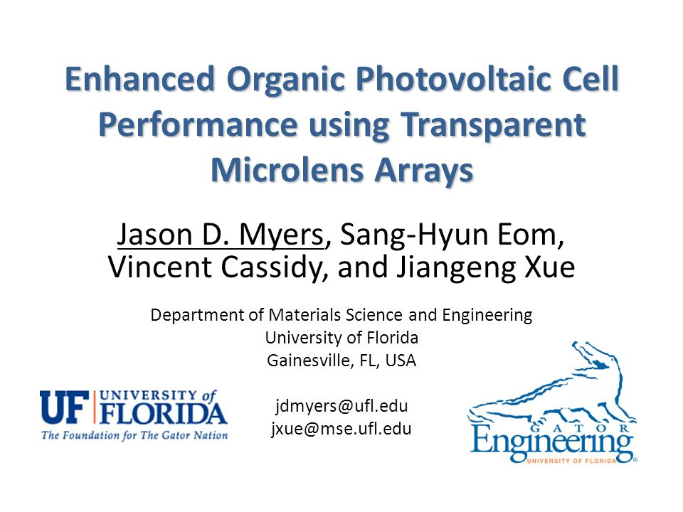 Enhanced Organic Photovoltaic Cell Performance using Transparent Microlens Arrays