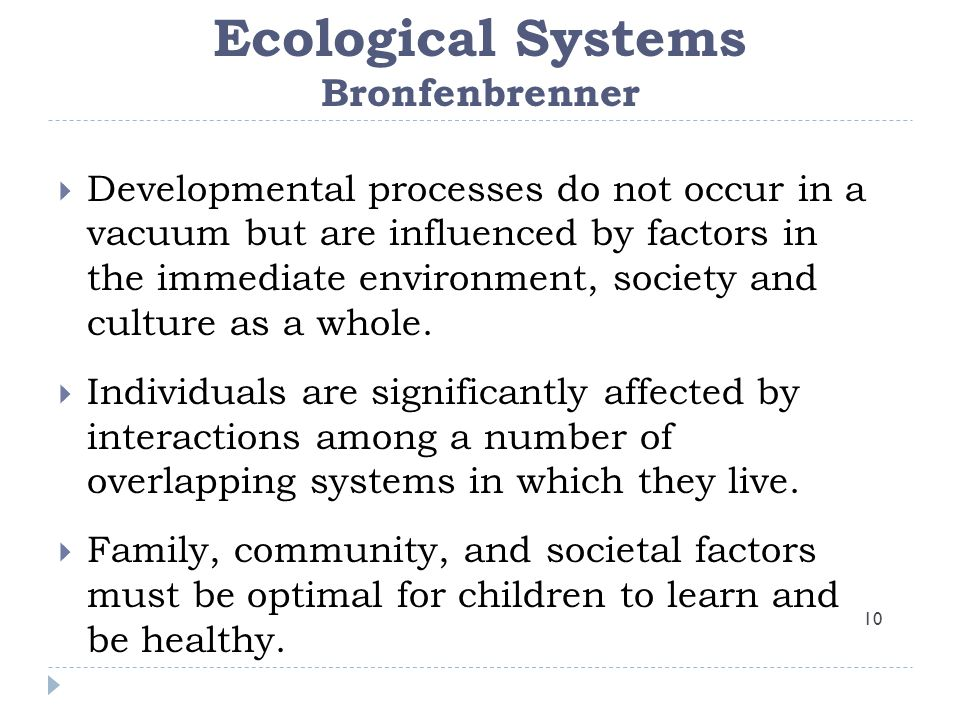 Ecological Systems Bronfenbrenner