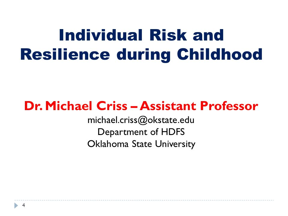 Dr. Michael Criss – Assistant Professor